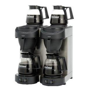 Animo Double Coffee Animo | 10512 | M102 | Inc. 4 x Gläser können 1,8 Liter | 3500W | 420x380x (H) 625mm