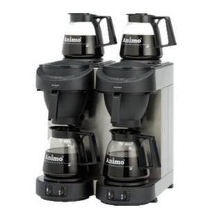 Animo Dubbel Koffiezetapparaat Animo | 10512 | M102 | Inc 4 x Glazen Kan 1,8 Liter | 3500W | 420x380x(h)625mm