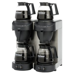 Animo Double Coffee Animo Solid Water | 10562 | M202 | Inc. 4 x Glasses Can 1.8 Liter | 3500W