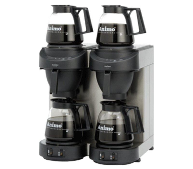 Animo Double Coffee Animo Solide Wasser | 10562 | M202 | Inc. 4 x Gläser können 1,8 Liter | 3500W