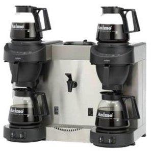Animo Trio   Dubbel Koffiezetapparaat en Heewaterdispenser Animo Vaste Wateraansluiting   10567   M202W