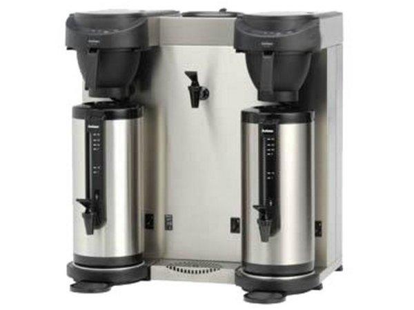 Animo Trio   Dubbel Koffiezetapparaat en Heewaterdispenser Animo Vaste Wateraansluiting   10582   MT202W