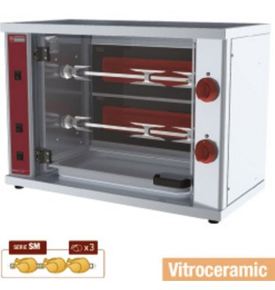 Diamond Chicken Grill Electric - 2 Digging - 800x400x (H) 555mm - 3KW - 6 Chickens