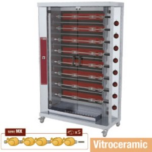 Diamond Chicken Grill Electric - 8 Spits - 1200x500x (h) 1880mm - 20KW - 40 chickens