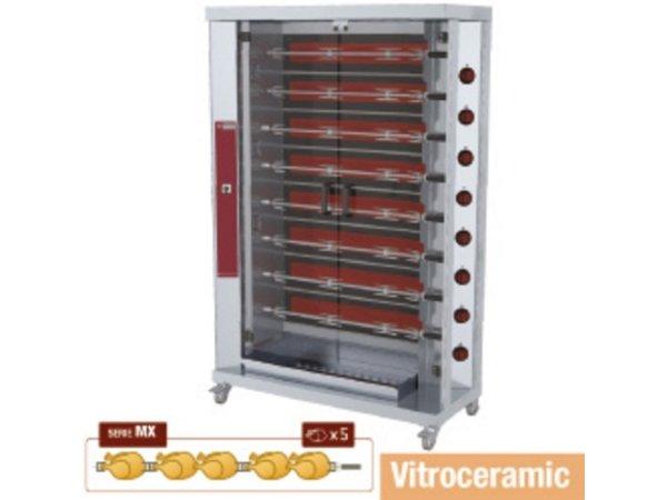 Diamond Kippengrill Vitroceramisch - 8 Spitten - 1098x480xh1920mm - 38,4kW