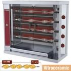 Diamond Hähnchengrill Elektro - 4 Graben - 1200x500x (h) 1065mm - 10 kW - 20 Hühner