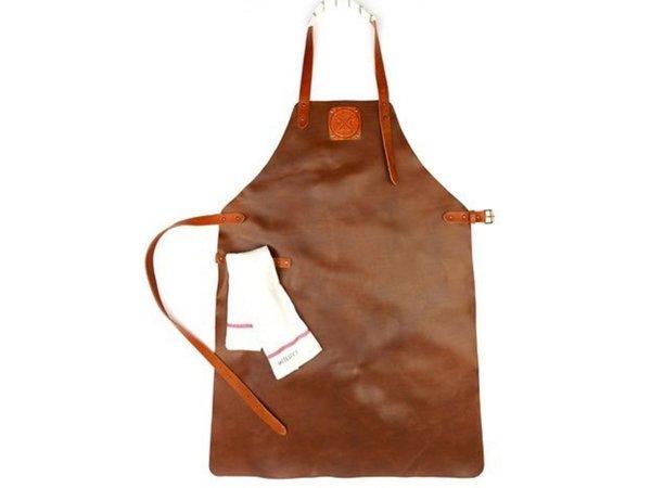 Witloft Leather Apron Witloft | Regular apron Cognac / Brandy | WL-ARU-06 | Unisex | Large 85 (L) x60 (b) cm