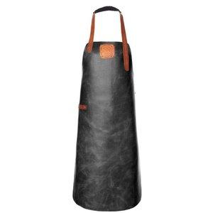 Witloft Leder Schürze Witloft | Schürze Regular Black / Cognac | WL-ARB-01 | Männlich | Xlarge 100 (L) x75 (b) cm