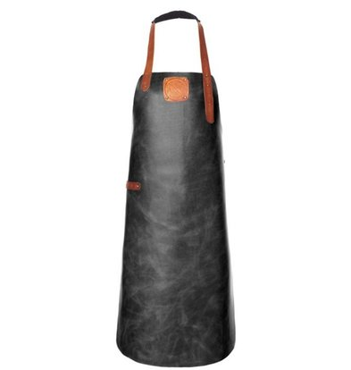 Witloft Leather Apron Witloft | Apron Regular Black / Cognac | WL-ARB-01 | Male | XLarge 100 (L) x75 (b) cm