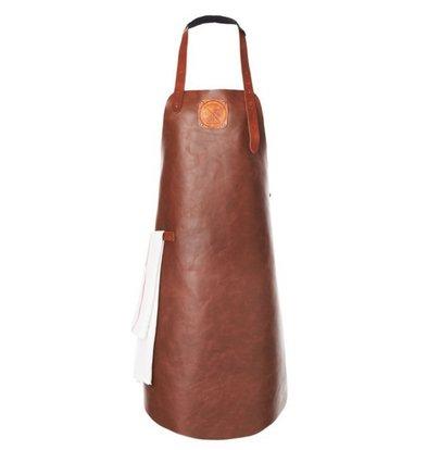 Witloft Leder Schürze Witloft | Regelmäßige Schürze Cognac / Brandy | WL-ARB-06 | Männlich | Xlarge 100 (L) x75 (b) cm