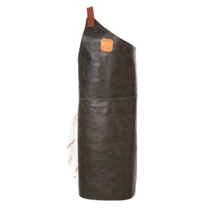 Witloft Leather Apron Witloft | Apron Butcher Black / Cognac | WL-ABR-01 | Male | Large 85 (L) x60 (b) cm