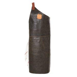 Witloft Leder Schürze Witloft | Schürze Butcher Schwarz / Cognac | WL-ABR-01 | Männlich | Große 85 (L) x60 (b) cm