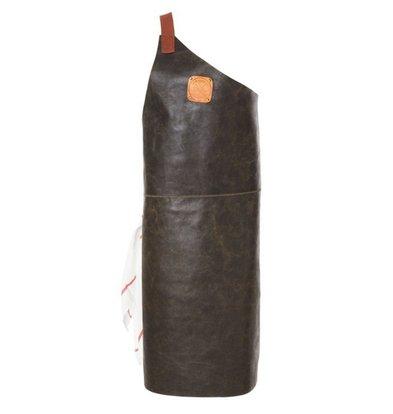 Witloft Leather Apron Witloft | Apron Butcher Black / Cognac | WL-ABR-01 | Male | Large 85 (L) x60 (b) cm