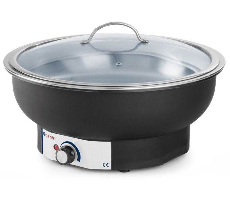 Hendi Chafing Dish Electric | Tesino | rund | 6,8 Liter | O405 x (H) 24 mm