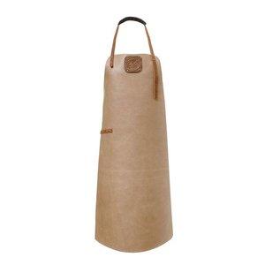 Witloft Leren Schort Witloft | Apron Regular Taupe / Cognac | WL-ARW-08 | Woman | Medium 85(L)x60(b)cm