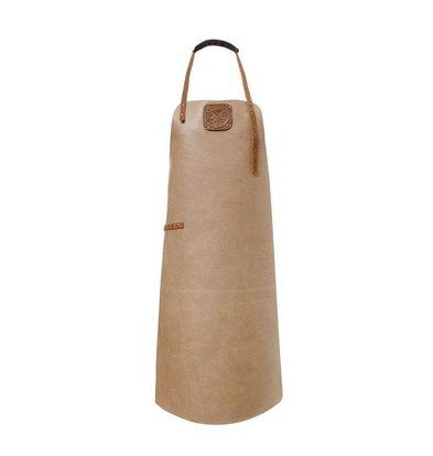 Witloft Leather Apron Witloft | Regular apron Taupe / Cognac | WL-ARW-08 | Woman | Medium 85 (L) x60 (b) cm