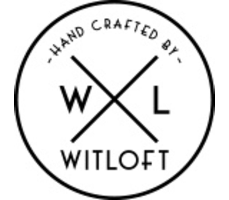 Witloft Leder Schürze Witloft | Regular Schürze Rosa / Grau | WL-ARW-09 | Frau | Medium 85 (L) x60 (b) cm