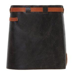 Witloft Leather Apron Witloft | Short Apron Black / Cognac | WL-SAW 01 | Woman | 40 (L) x62 (W) cm