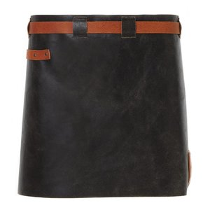 Witloft Leren Schort Witloft | Short Apron Black / Cognac | WL-SAW-01 | Woman | 40(L)x62(B)cm