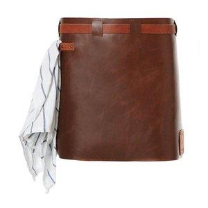 Witloft Leather Apron Witloft | Short Apron Cognac / Brandy | WL-SAW 06 | Woman | 40 (L) x62 (W) cm
