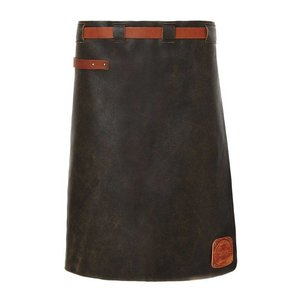 Witloft Leather Apron Witloft | Long Apron Black / Cognac | WL-LAM 01 | Male | 60 (L) x55 (W) cm