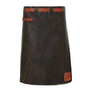 Witloft Leder Schürze Witloft | Lange Schürze Schwarz / Cognac | WL-LAM 01 | Männlich | 60 (L) x55 (W) cm