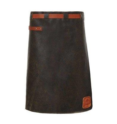 Witloft Leren Schort Witloft | Long Apron Black / Cognac | WL-LAM-01 | Male | 60(L)x55(B)cm