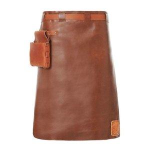 Witloft Leather Apron Witloft   Long Apron Cognac / Brandy   WL-LAM 06   Male   60 (L) x55 (W) cm