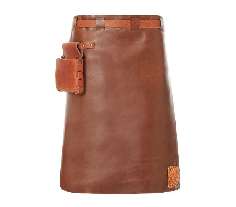 Witloft Leather Apron Witloft | Long Apron Cognac / Brandy | WL-LAM 06 | Male | 60 (L) x55 (W) cm