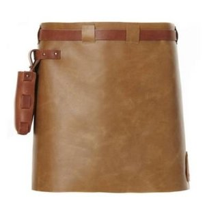 Witloft Leather Apron Witloft | Short Apron Brown / Cognac | WL-SAW 02 | Woman | 40 (L) x62 (W) cm
