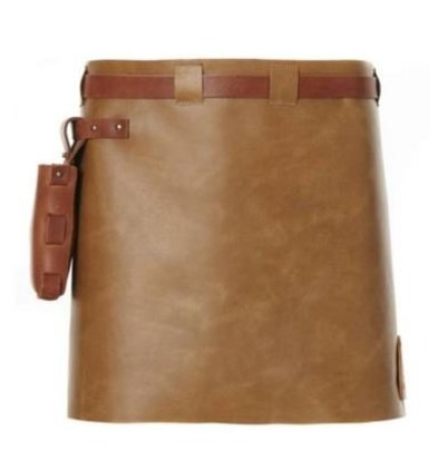 Witloft Leren Schort Witloft | Short Apron Brown / Cognac | WL-SAW-02 | Woman | 40(L)x62(B)cm