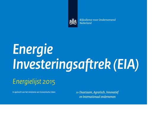 EIA Energie Investeringsaftrek Uitleg Informatie