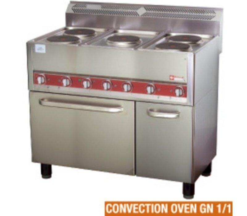 Diamond Horeca Stove | electric | 5 Cooking | Convection Oven | 13kW | 990x600x860kW