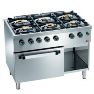 Diamond Horeca Stove | gas | 6 Burners | 3.5 and 6kW | Gas Stove with Cabinet | 1100x700x (H) 850mm