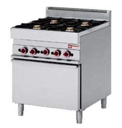 Diamond Gas stove | 4 Burners | 3.6 and 5kW | With Gas oven | 700x650x (h) 850 / 950mm