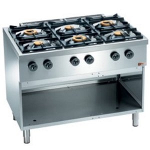 Diamond Horeca Stove | gas | 6 Burners 3.5 and 6kW | Open Cupboard | 1100x700x (H) 850mm
