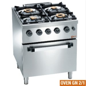 Diamond Horeca Stove | gas | 4 Burners | 3.5 and 6kW | Gas Oven | 700x700x (H) 850mm