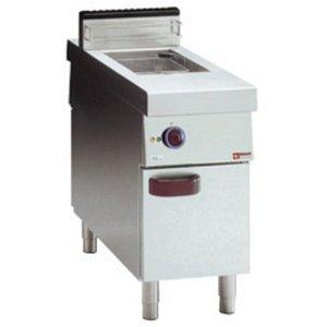 Diamond Fritteuse | Elektrizität | 15 Liter | 400V | 10kW | auf Kabinett | Central Passage | 400x1100x (H) 850mm