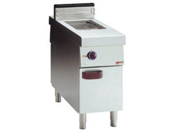 Diamond Friteuse | Elektrisch | 15 Liter | 400V | 10kW | op Kast | Centrale Doorgang | 400x1100x(h)850mm