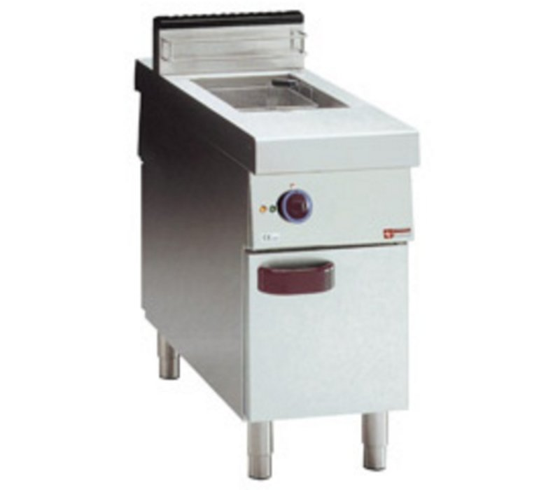 Diamond fryer | electric | 15 Liter | 400V | 10kW | on Cabinet | Central Passage | 400x1100x (H) 850mm