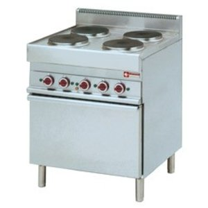 Diamond Electric Stove | 4 Round Cooking | 400V | 2,6kW | Convection Oven | 700x650x (h) 850 / 950mm