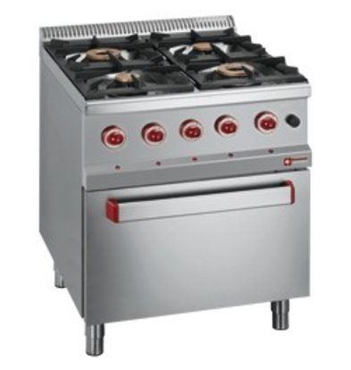 Diamond Gas stove | 4 Burners | 3.5 and 6kW | With Gas oven | 700x700x (h) 850 / 920mm