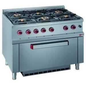 Diamond Gas stove | 6 Burners | 3.5 and 6kW | Maxi Gas oven | 1100x700x (h) 850 / 920mm