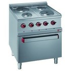 Diamond Elektrisch Fornuis | 4 Platen op Elektrische Oven en Grill |400V | 1,5 en 2,6kW | 700x700x(h)850/1000mm
