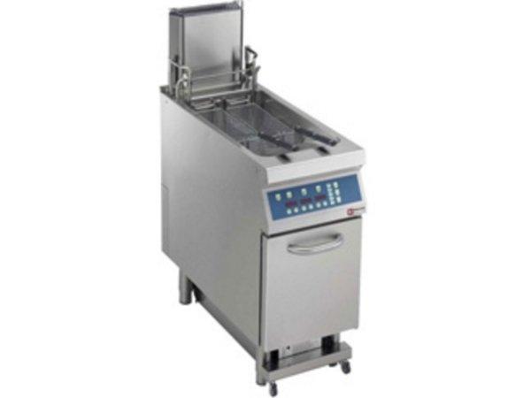 Diamond Fritteuse | Gas | 23 Liter | 25kW | digital | Öl-Reinigung automatische und automatische Hives Aufzug | 400x900x (H) 850mm