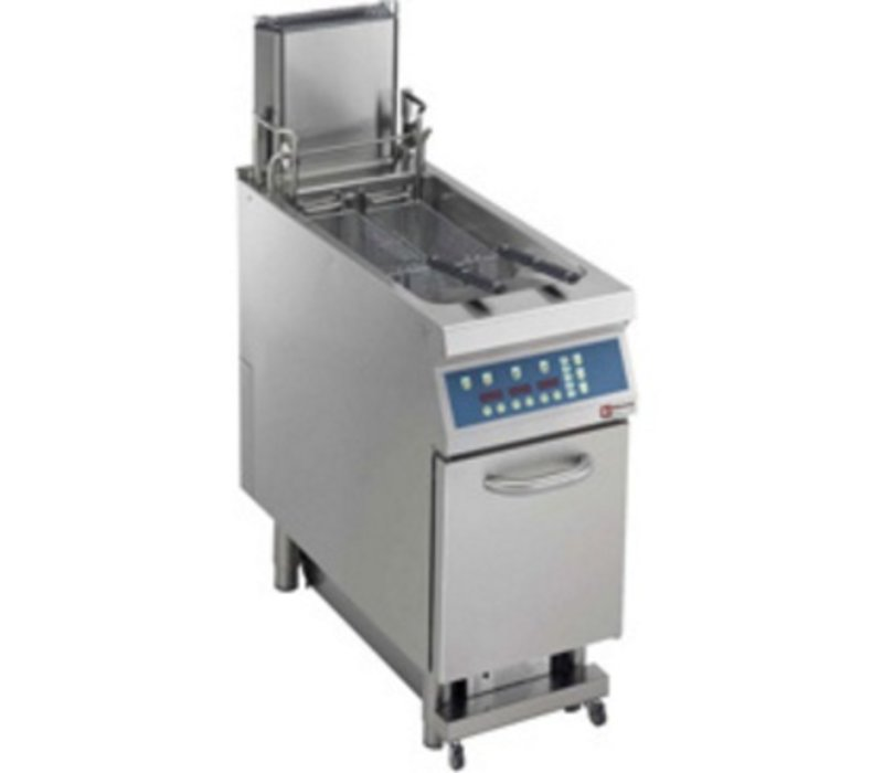 Diamond fryer | gas | 23 Liter | 25kW | digital | Oil Purification automatic and automatic Hives Elevator | 400x900x (H) 850mm