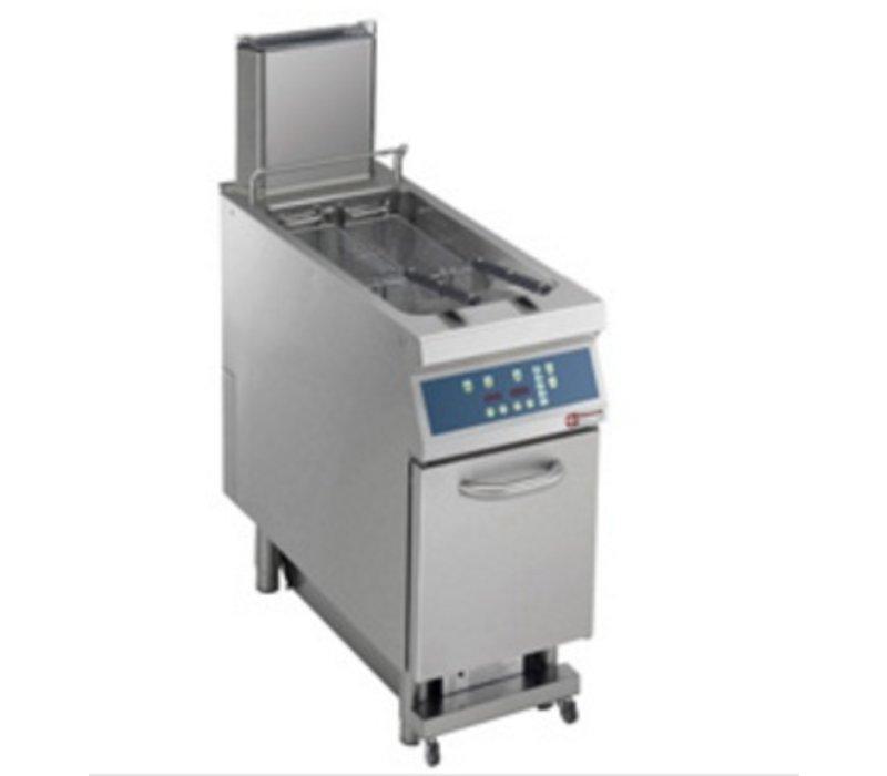 Diamond Fritteuse | Gas | 23 Liter | 25kW | auf Kabinett Digital | Automatische Öl-Reinigung | 400x900x (h) 850 / 1200mm