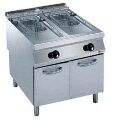 Diamond Gas Fryer | 2 x 15 Liter | Außen-Brenner | auf Kabinett | 800x900x (h) 850 / 920mm