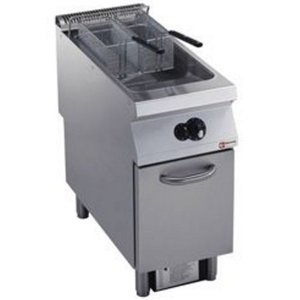 Diamond Gas Fryer | 23 Liter | Exterior Burners | on Cabinet | 400x900x (h) 850 / 920mm