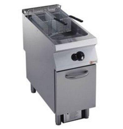 Diamond Gas Fryer | 23 Liter | Exterior Burners | on Cabinet | 400x900x (h) 850 / 920mm